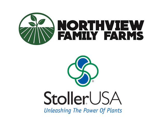 logos for Northview Family Farms and Stoller USA